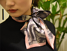 长条小丝巾